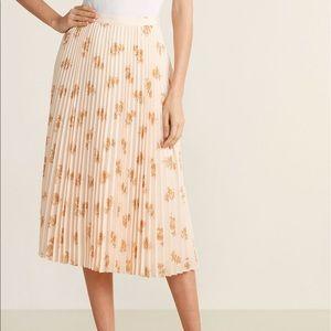 Joie Pleated Midi Skirt